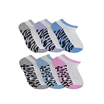 6 Pairs of Ladies Women's Trainer Sport Cushion Liner Socks Animal