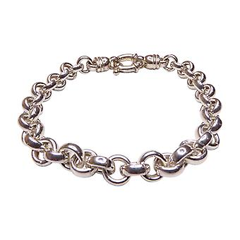 Christian silver bracelet with chains