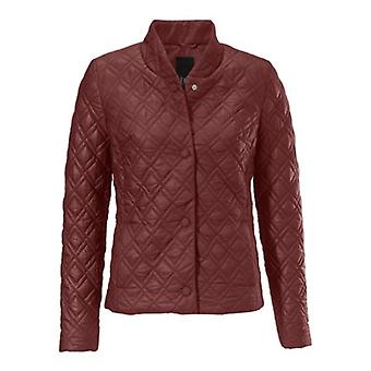B.C.. best connections feminine women's casual Quilted Jacket rust