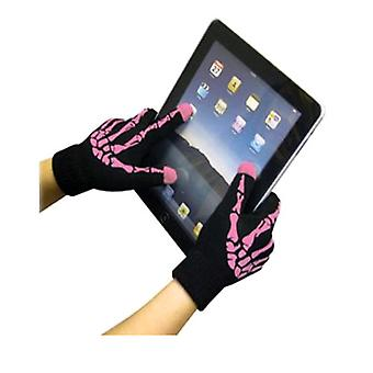 Guanti di boss Tech Touch Screen (rosa/Skeleton)