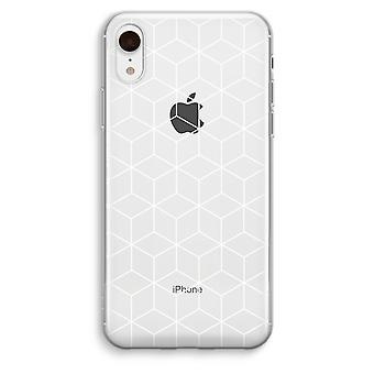 iPhone XR Transparant Case - Cubes black and white