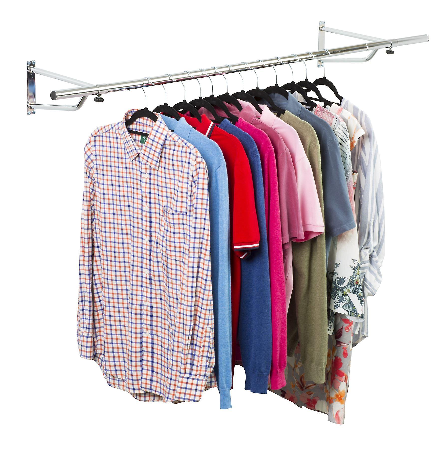 5ft Garment Rail In Chrome Plated