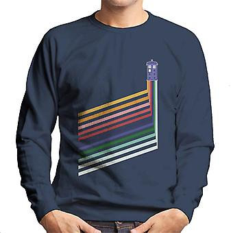 Doctor Who Tardis Rainbow Stripes Men's Sweatshirt