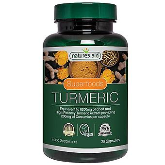 Natures Aid Turmeric 30 Vcaps