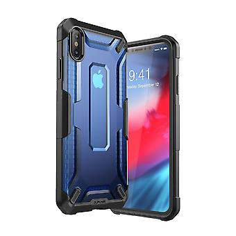 iPhone Xs Max case, [Unicorn Beetle Style] Premium Hybrid Protective Clear Case 2018 Release (Navy)