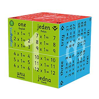 ZooBooKoo 1 - 12 Times Tables Cubebook (English, Polish, Romanian & Czech)