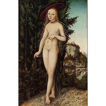 Venus en un paisaje, Lucas Cranach, 38x25cm