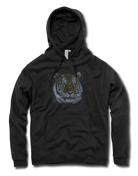 Mens Hoodie - tijger - Wildlife