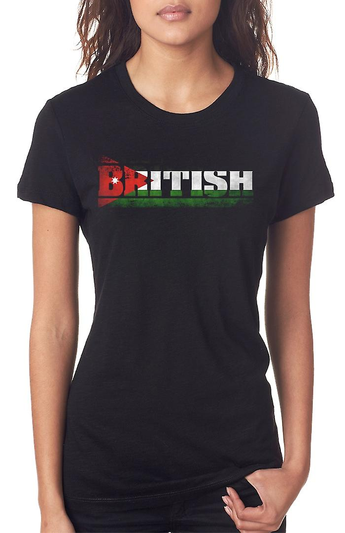 Jordan Jordanian Flag - Words Ladies T Shirt