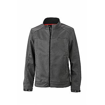 James and Nicholson Mens Touch Softshell Jacket de fixation