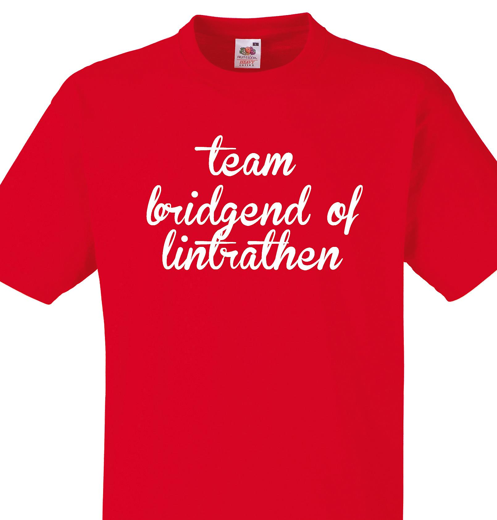 Team Bridgend of lintrathen Red T shirt