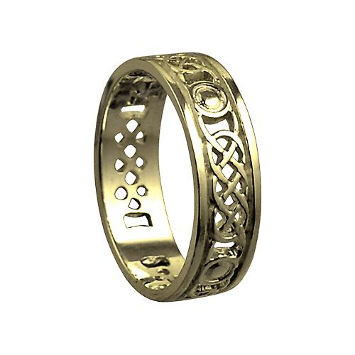 18ct Gold 6mm pierced Celtic Wedding Ring