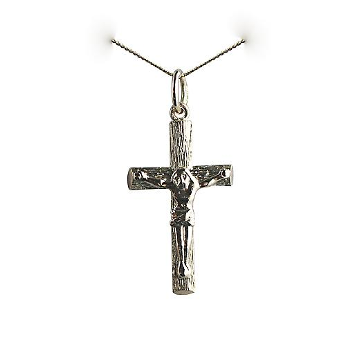 9ct Gold 23x15mm Crucifix Cross with a curb chain