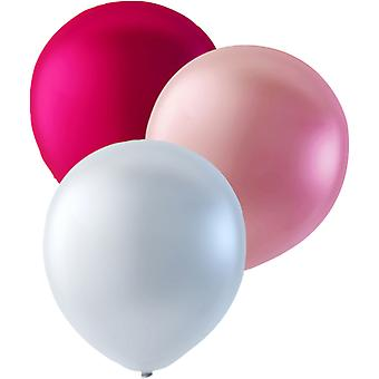 100-pack Pink, light pink and pearly white-30 cm (12