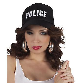 Volwassenen verstelbare politie Cap Fancy Dress accessoire