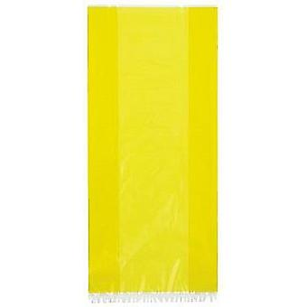 SALE - 30 Long Cellophane Party Bags - Yellow | Kids Party Loot Bags