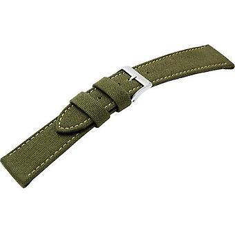 Morellato black leather strap CORDURA/Green 2 man