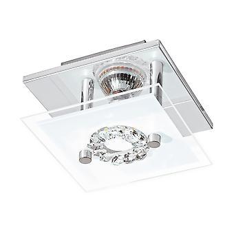 Eglo - Roncato 1 luz LED Flush EG93781 Chrome luz de teto