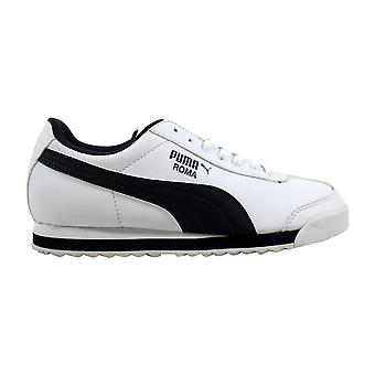 Puma Roma grundlegende Jr White/New Navy 354259 05-Grundschule