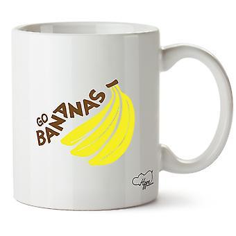 Hippowarehouse gå bananer trykt krus Cup keramiske 10 Unzen