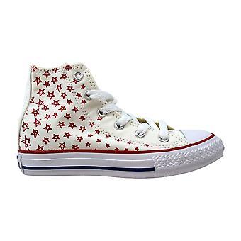 Converse Chuck Taylor All Star Hi White/Casion-Blue 656092F Pre-School