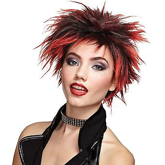 Red Wig For Punker Chick
