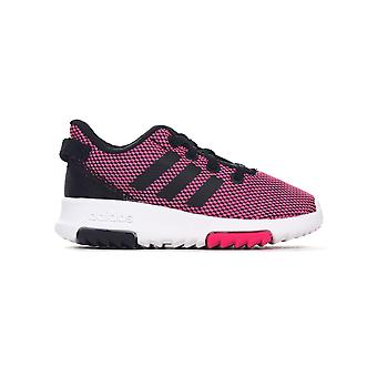 adidas NEO Racer TR Infant Kids Girls Sports Trainer Shoe Pink/White