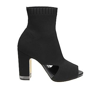 Michael Kors Black Fabric Ankle Boots