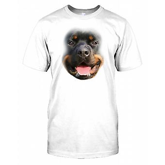 Rottweiler Pedigree Dog Face Mens T-Shirt
