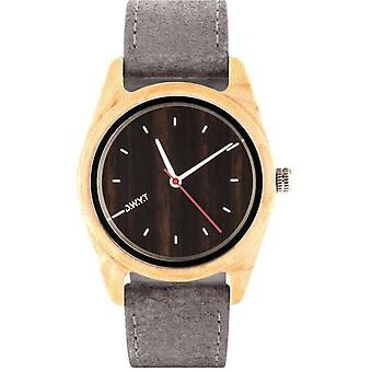 D.W.Y.T DW-00103-1004 - watch your wood leather mixed gray ga