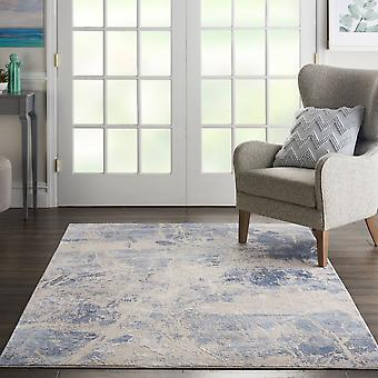 Silky Textures SLY02 Blue Cream  Rectangle Rugs Modern Rugs