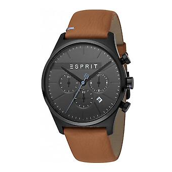 Esprit ES1G025L0045 Ease Chrono Black Brown Herrenuhr Chronograph