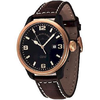 Zeno-Watch Herrenuhr OS Pilot Black-Bicolor 8554-BRG-a1