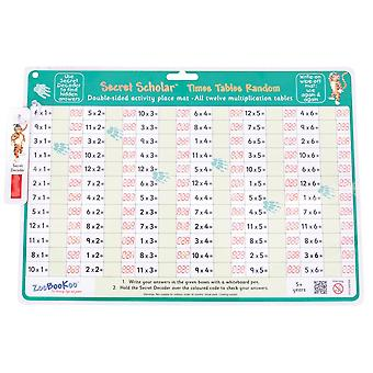 ZooBooKoo Secret Scholar - Crack the Code Times Tables in Random Order