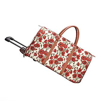 Poppy luggage pull holdall by signare tapestry / pull-pop