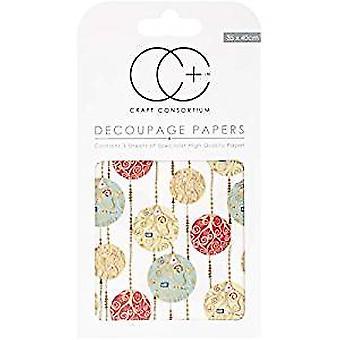 Craft Consortium White Baubles Decoupage Papers (CCXDECP023)