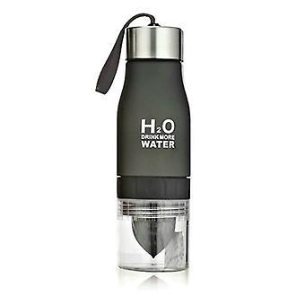 H2O vesi pullo sitrus hedelmien Press-musta