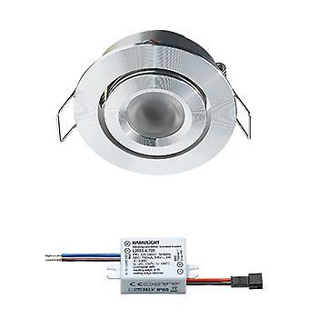 Crede LED recessed Spotlight | Branco morno | 3 watts | dimmable | Inclinação