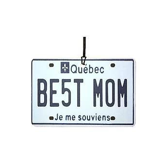 QUEBEC - Best Mom License Plate Car Air Freshener