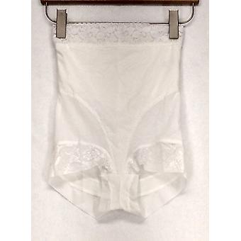 Slim 'N Lift Lace Detail Briefs White Shaper
