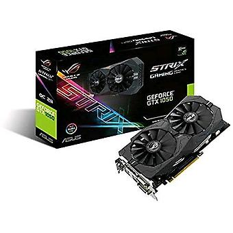Asus strix-gtx1050-o2g-gaming graphics card nvidia geforce gtx 1050 2gb gddr5 pci express 3.0 interface with fan