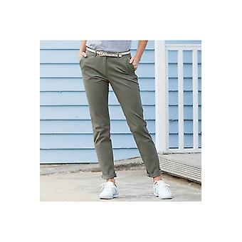 Front row women's stretch chinos - tag-free fr622