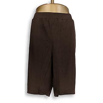 Quacker Factory Frauen's Plus Shorts funkeln und glänzen braun A306333