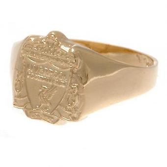 Liverpool 9ct Gold Crest Ring Large