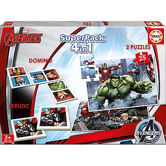 Educa Superpack Avengers (Spielzeuge , Brettspiele , Puzzles)