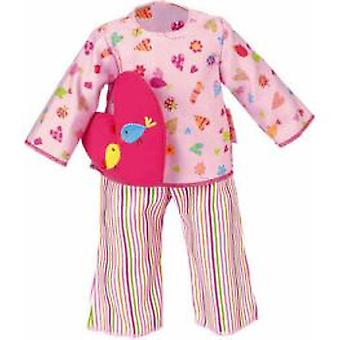 Kathe Kruse Pajamas Rosa With Colorful Heart Pillow