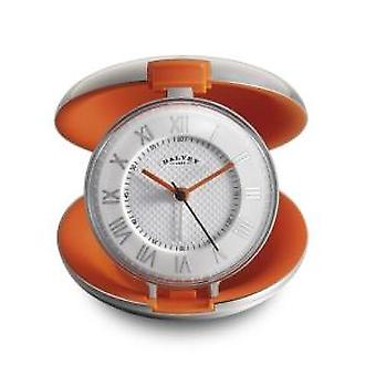 Dalvey Capsule Travel Clock in Orange
