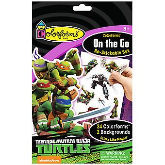 Colorforms(R) On The Go Re-Stickable Sticker Set-Teenage Mutant Ninja Turtles COLOROTG-804