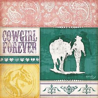 Cowgirl Forever affisch Skriv av Jennifer Pugh