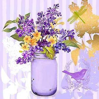 Lilac Mason Jar Bouquet Poster Print by  Art Atelier Alliance